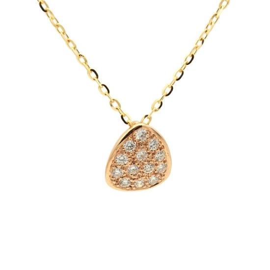 Colgante de oro rosa y diamantes - 1