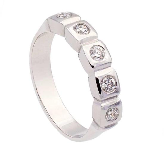 Sortija diamantes en cuadrados - 1