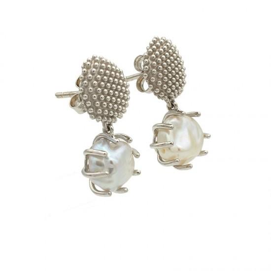 """Pendientes """"Cactus"""" con perlas - 1"""