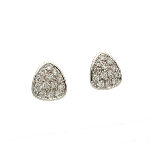 Pendientes triangulares con diamantes