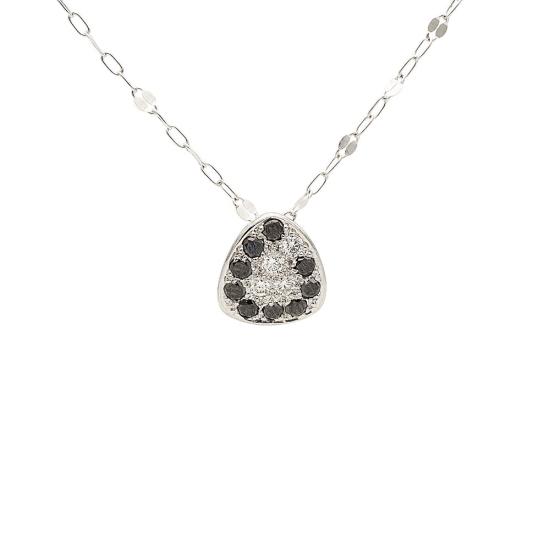 Colgante con diamantes blancos y negros - 1054 - 1