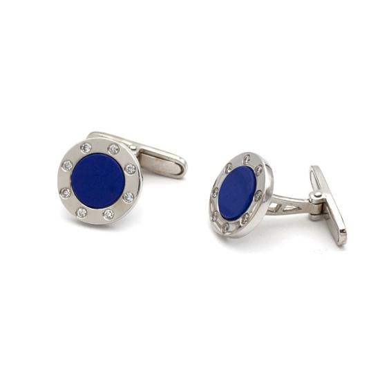 Gemelos de lapislázuli y diamantes - 1