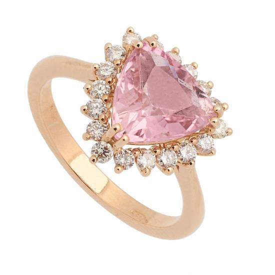 Sortija con Turmalina y diamantes - 0441 - 1