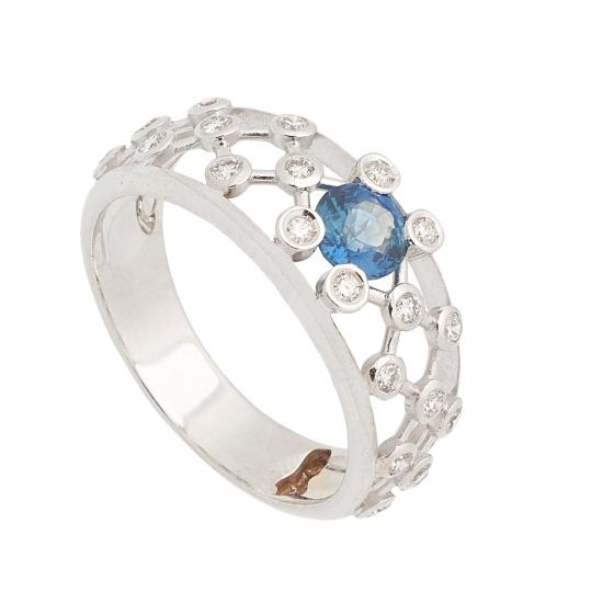 Sortija de Zafiro y Diamantes - 1240 - 1