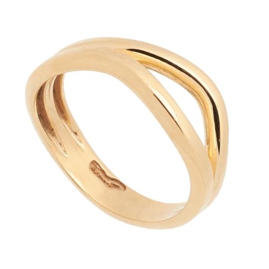 Sortija de oro de forma asimétrica - 1232 - 1