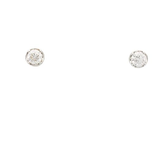 Pendientes redondos con diamantes - 0121 - 1