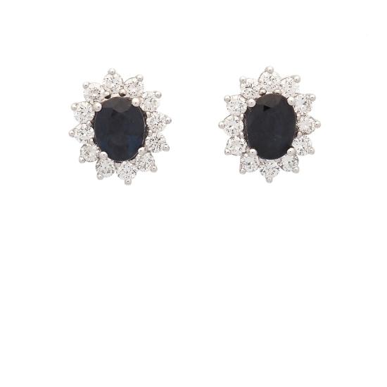 Pendientes de zafiros y diamantes - 2