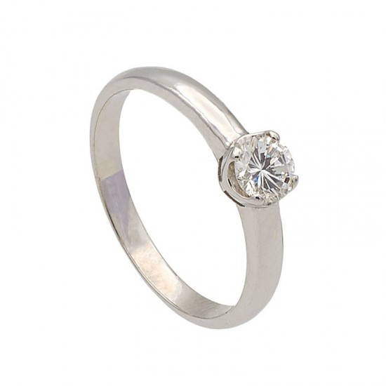 Solitario diamante cuatro garras - 1