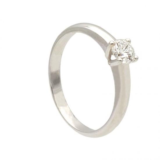 Solitario con diamante en garras - 1